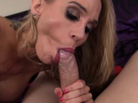 Milf sarah gets fuck pov style until she gets covered in