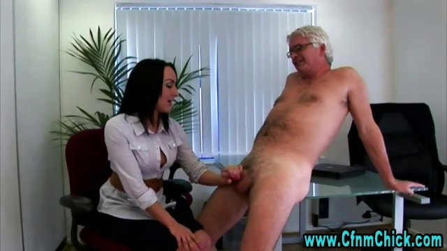 Porno Video of Horny Office Dick Cfnm Handjob