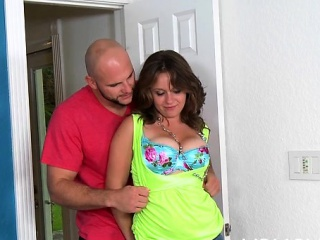 sexy wench loves how this stud takes care of her hairy muff