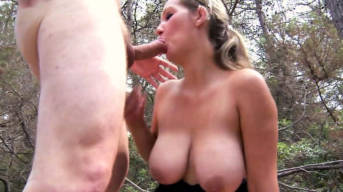 Blonde With Big Jugs Is Plowed Outdoors