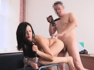 dirty flix - young brunette gets anal fucked hard!