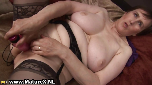 Porn Tube of Thick Grandma With Sexy Black Stockings Part3
