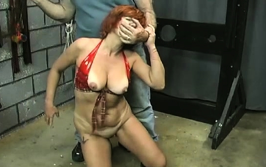 Sexy Scenes Of Rough Bondage In Breasty's Pussy Babe