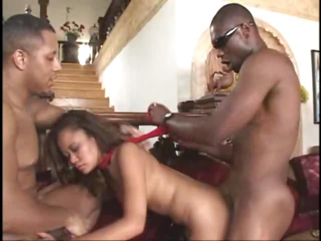 Porno Video of 1 Asian Chick Vs 3 Black Men