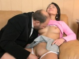 sweet angel gets a wild drilling from slutty elderly teacher
