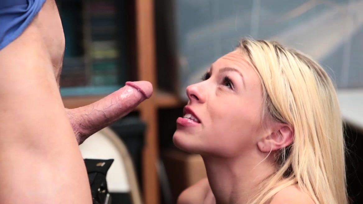 Blonde Teen Thief Suspects And Fucked By A Security Guy