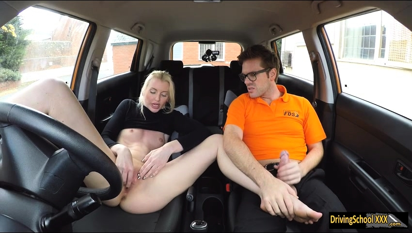 Sexy Blonde Babe Lexi Lou Banged By A Driving Instructor