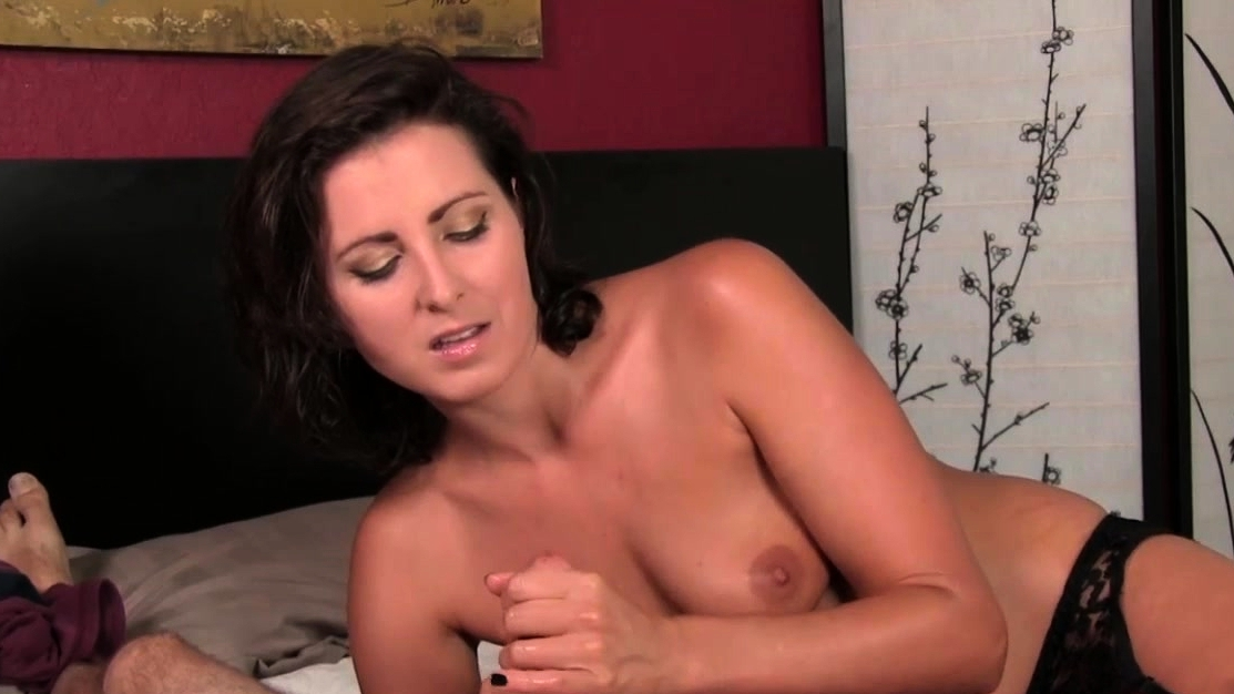 Teasing Milf Shakes Dick Gently And Slowly