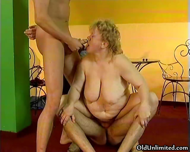 Sex Movie of Horny Slutty Grandma Gets A Dp From Part6