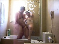 My fat girl in the hotel shower   Porn-Update.com