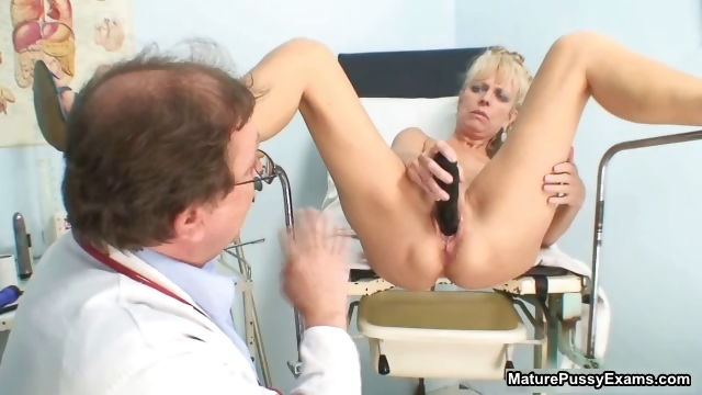 Porno Video of Horny Mature Patient Toying Her Pink Part6
