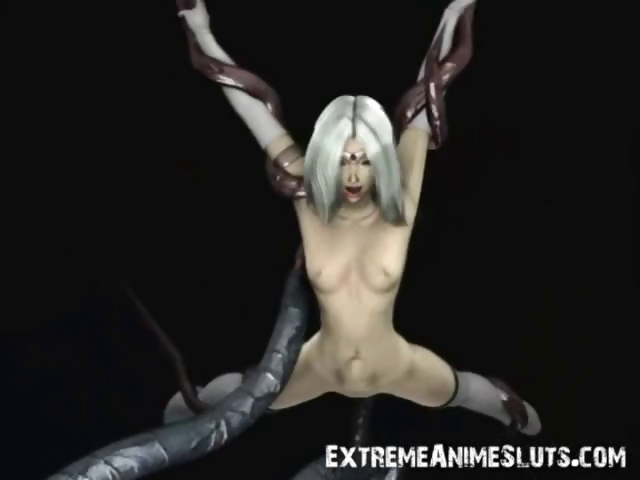 Sex Movie of 3d Babe Gangbanged By Tentacles!