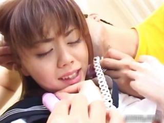 Horny asian schoolgirl in threesome porn part6