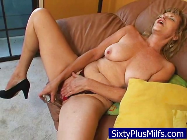 Porno Video of Granny Stripping And Masturbating