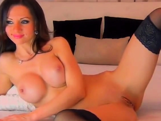 Smoking Hot Russian Woman Pushes A Toy Down Her Slit