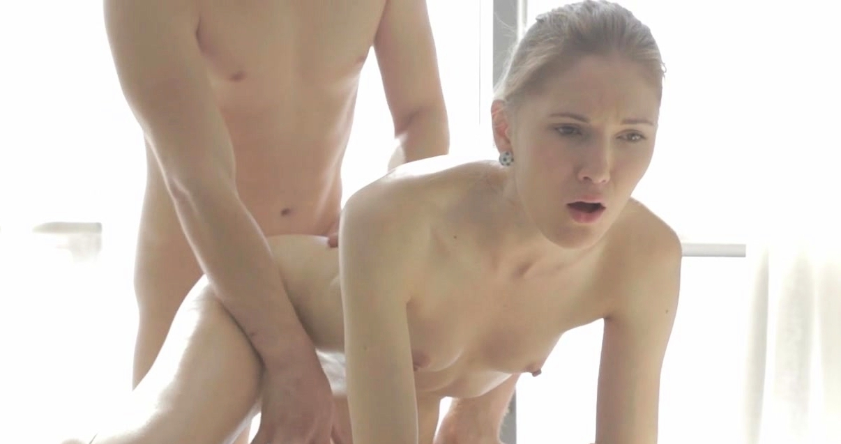 Cutie Gets Her Tits Mashed And Muff Drilled By Horny Dude