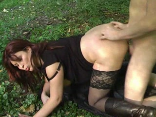 Porno Video of Mature Babe With A Young Boy In The Forest