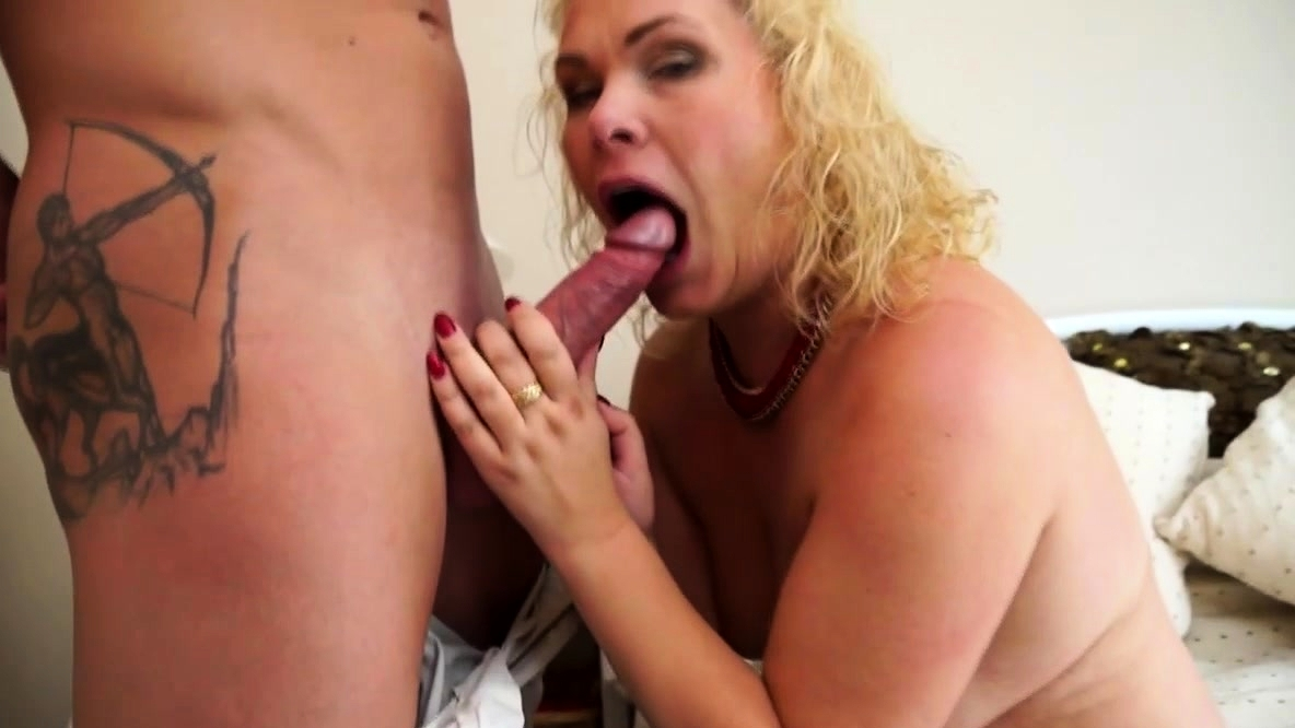 Mature Blonde Having Fun With Her Young Lover