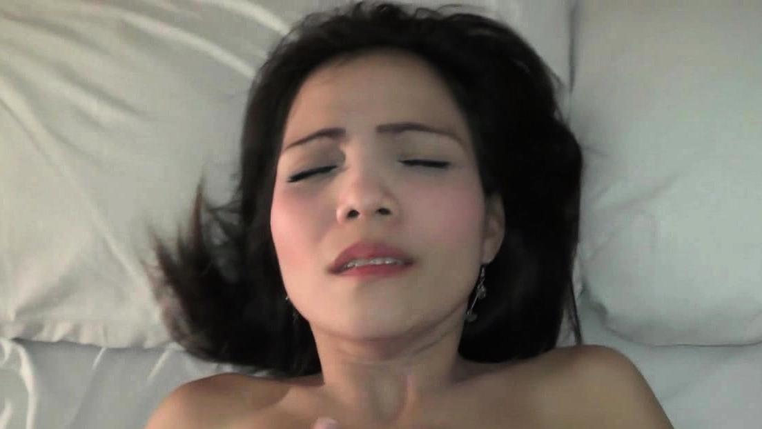 Thai Busty Slut Rides Hard White Cock