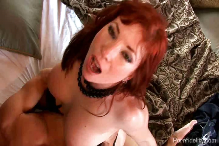 Porno Video of Sexy Redheaded Milf Oozes Sex