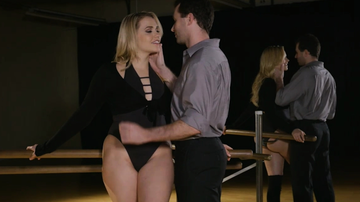 Blonde Woman With Bubble Butt Banged In The Dance Studio