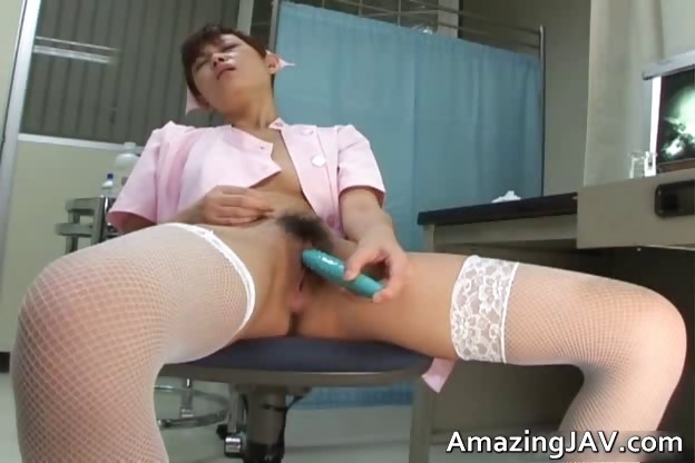 Porno Video of Cute Japanese Nurse Fucking Her Pussy Part5