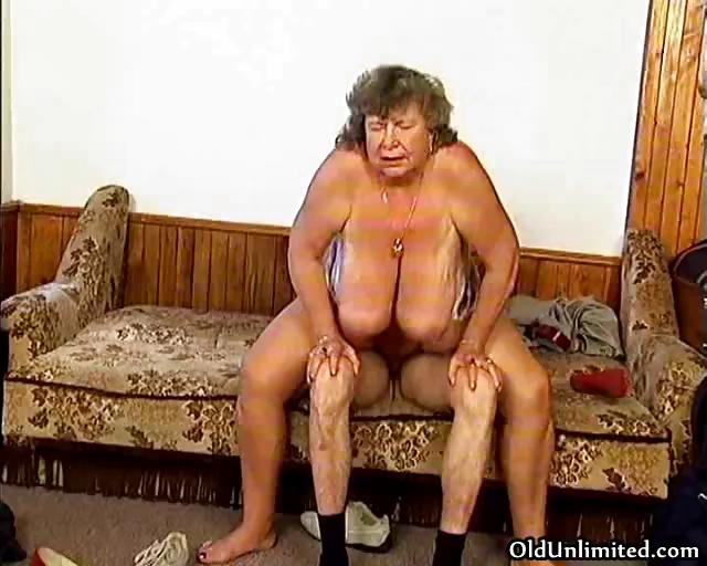 Porno Video of Dirty Grandma With Big Tits Riding Part5