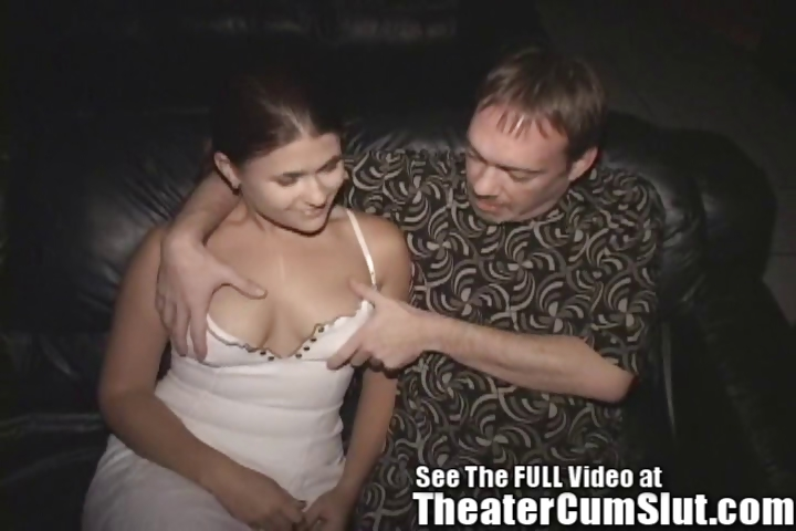 Porno Video of Horny Slut Wife Pleases Strangers In A Porn Theater