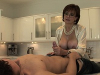 Lady Sonia gives young worker sucks facial ejaculate | Porn-Update.com