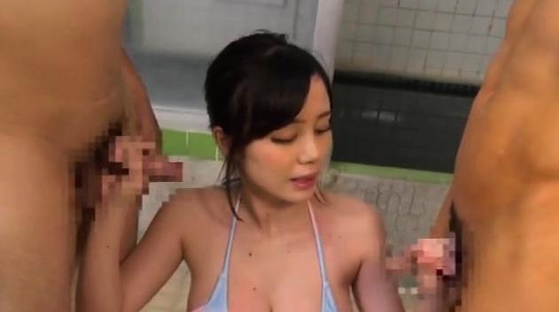 Beautiful Japanese Girl Model Hardcore Fucking Threesome
