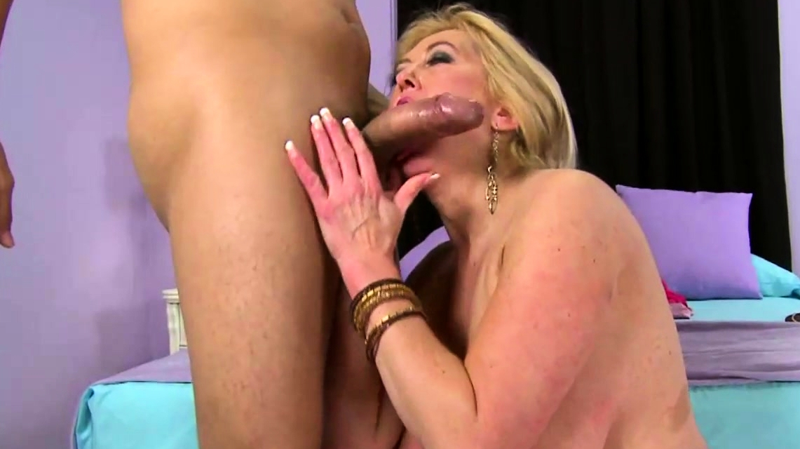 Horny Blonde Milf Loves His Cock