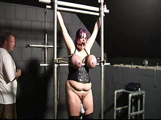 Porno Video of Tied Big Boobs, Tits Torture