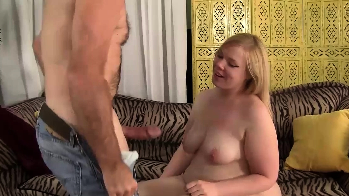 The Fluffy Blonde Bounces Up And Down On The Thick Cock