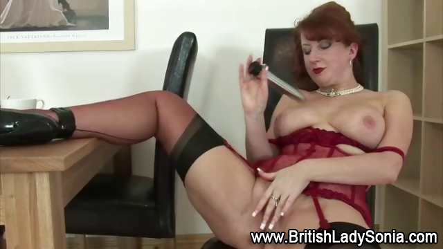 Porn Tube of Redheaded Lady Gets Fucked By Machine