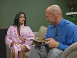 Depraved Whore Alexis Amore Gives Blowjob To Door To Door Salesman And Forces Hi