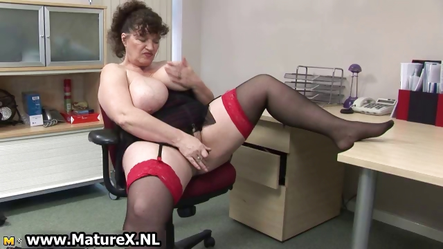 Porn Tube of Horny Fat Mature Lady Fucks Part1