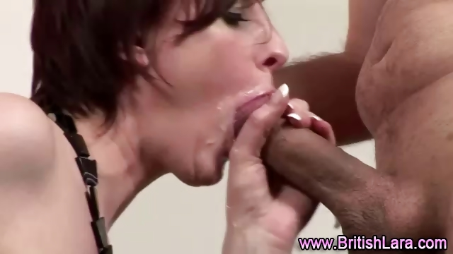 Porn Tube of Mature British Lady In Stockings Sucks And Gets Fucked
