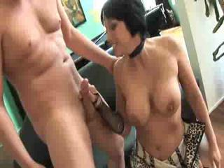 Porn Tube of Busty Milf In Stockings Gets Her Man To Cum Hard