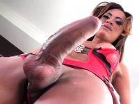 Ebony tgirl with big dick