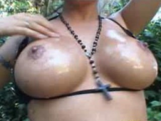 Porno Video of Brittney Skye: Busty Gets Naked In The Rain Forest