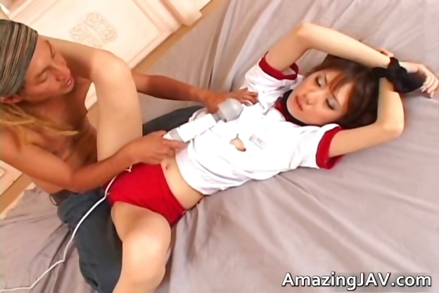 Porn Tube of Sexy Asian Schoolgirl Gets The Vibrator Part5