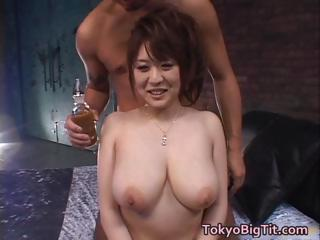Big Asian Tits Oiled and Fucked part6
