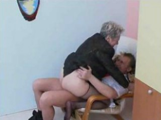 Office Granny Fuck