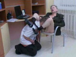 Office Granny Fuck