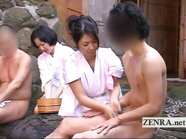 Porn Tube of Rare Outdoors Japanese Group Mixed Bathing Bathhouse