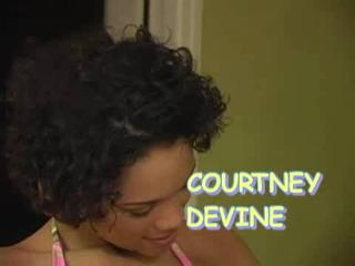 Courtney Devine Gets A Big Facial