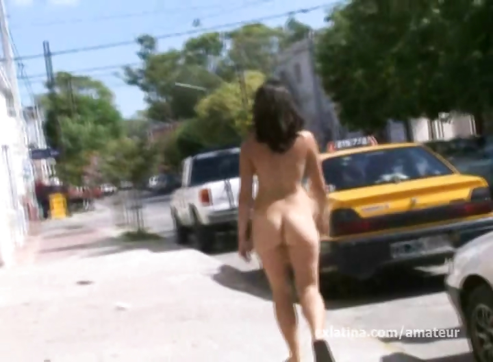 Porn Tube of Hairy Mexican Girlfriend Naked On Street