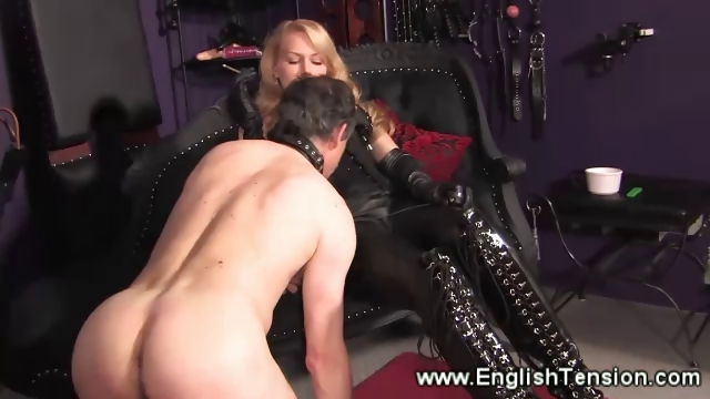 Porn Tube of Domina Feeds Her Sub Her Cigarette Smoke