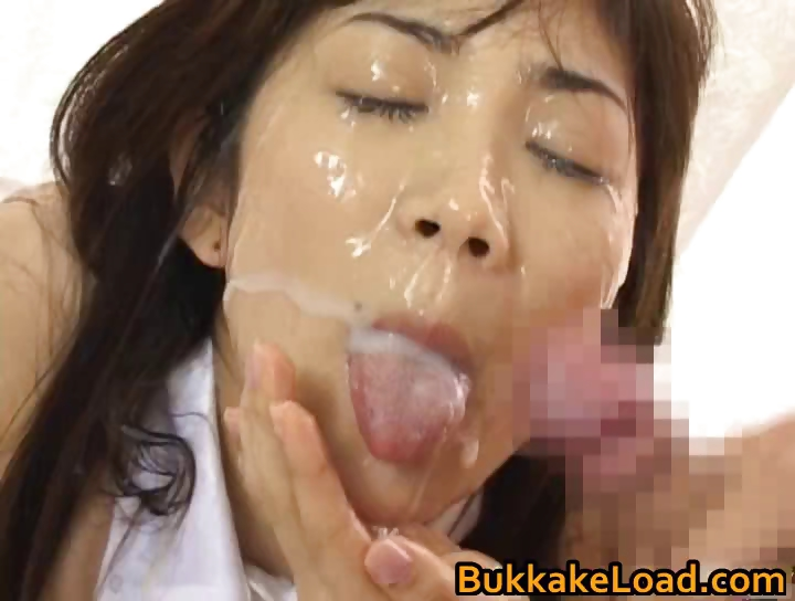Porno Video of Asuka Ohzora Japanese Model In Bukkake Part6
