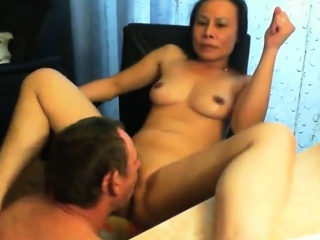 Mature woman and young guy fucking a WebCam
